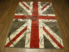 Modern Approx 6x4 120x170cm Woven Backed Union Jack GREYS STAMPED Quality rug
